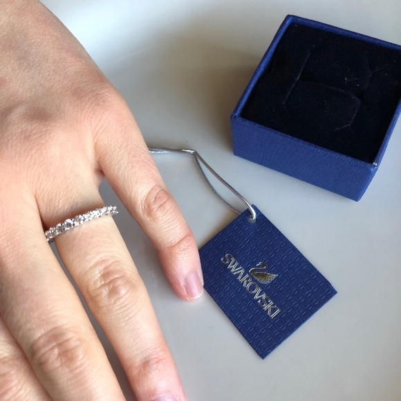 27f01714a Swarovski Jewelry | Vittore Ring White Rhodium Plating | Poshmark